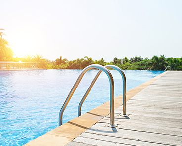 Pool Handrails for safety and aesthetics
